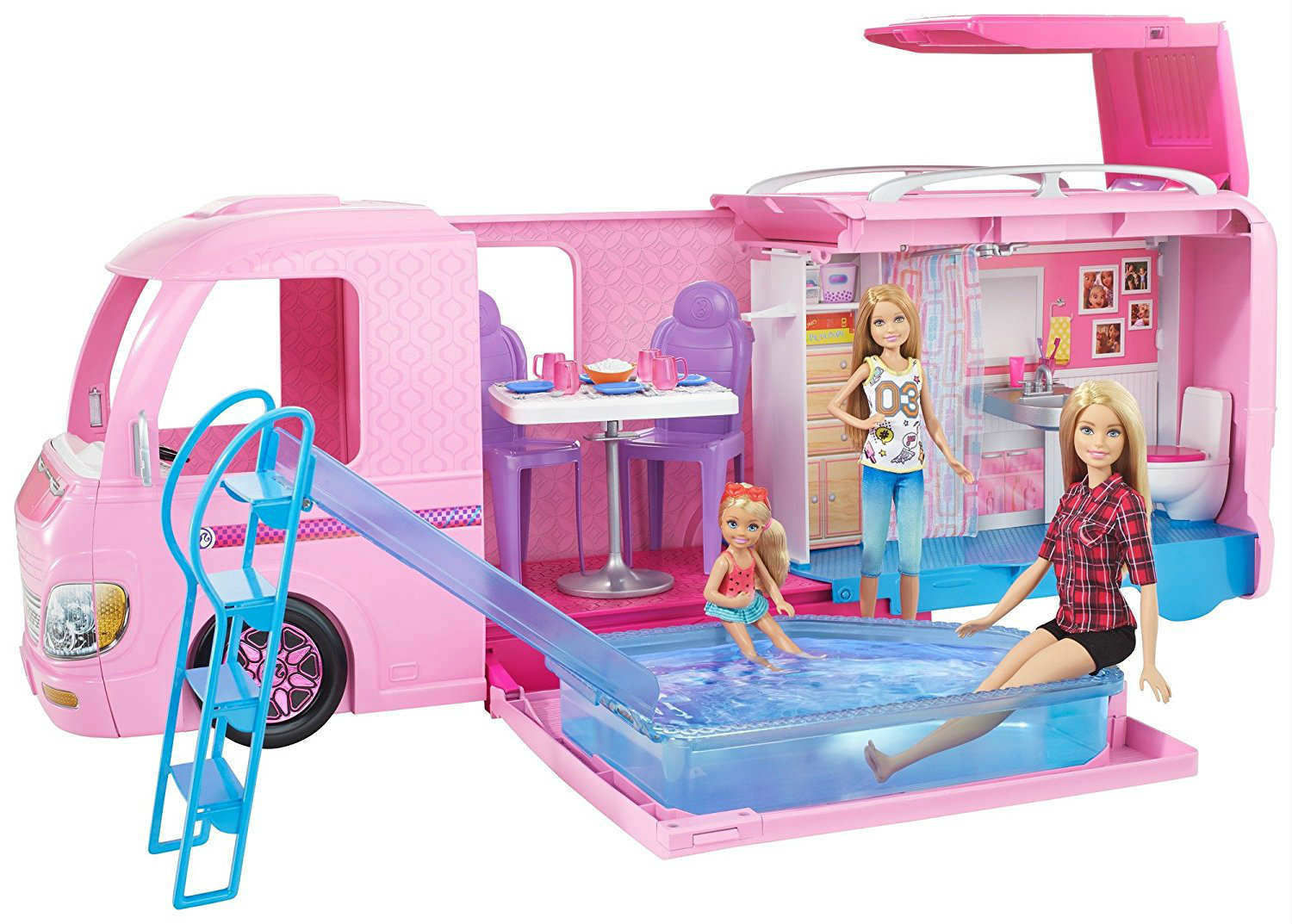 Yeni barbie muhte em karavan barbie nin pembe karavan for Piscina can drago precios 2017